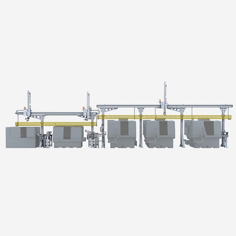桁架机器人生产连线